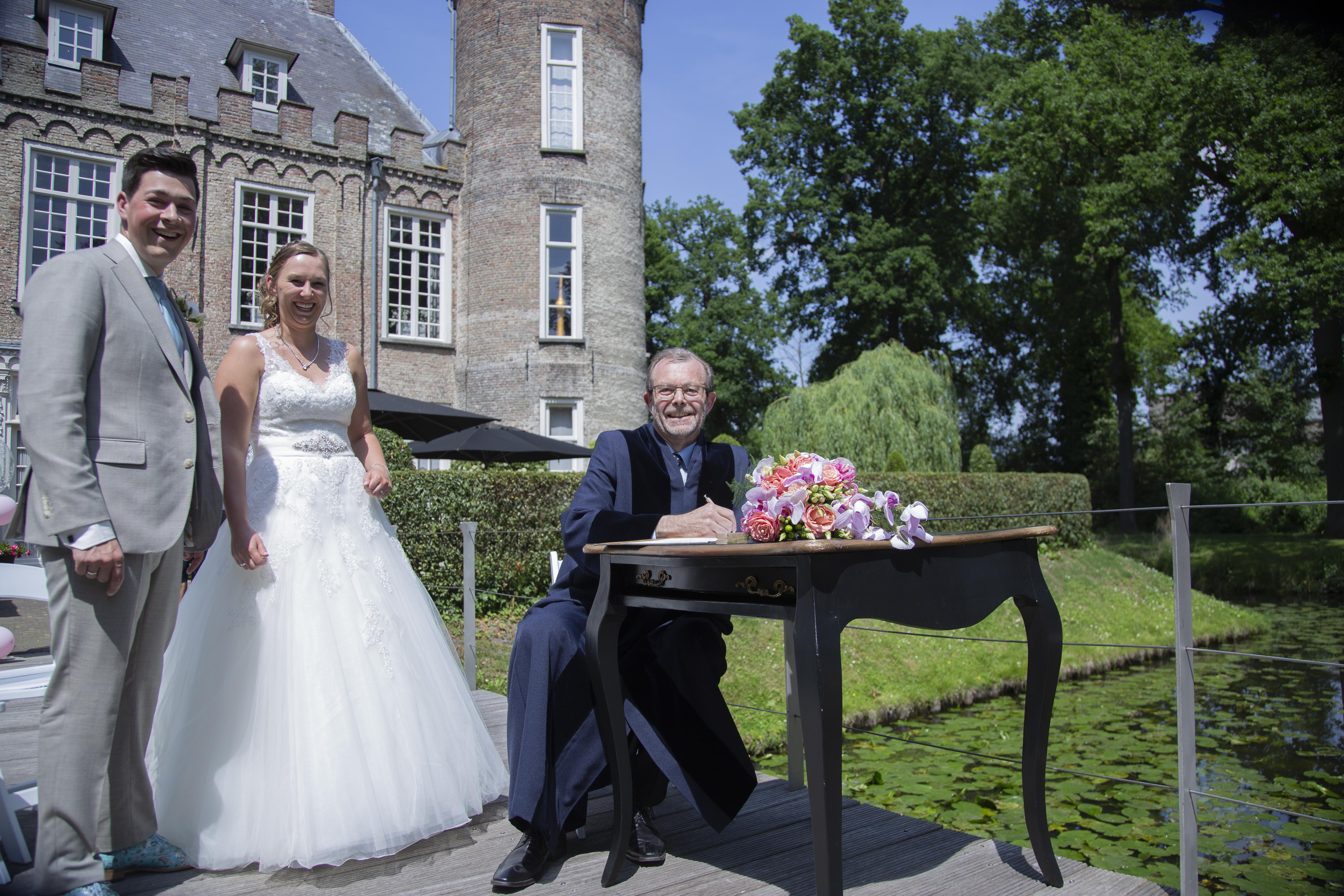wedding huwelijk kasteel